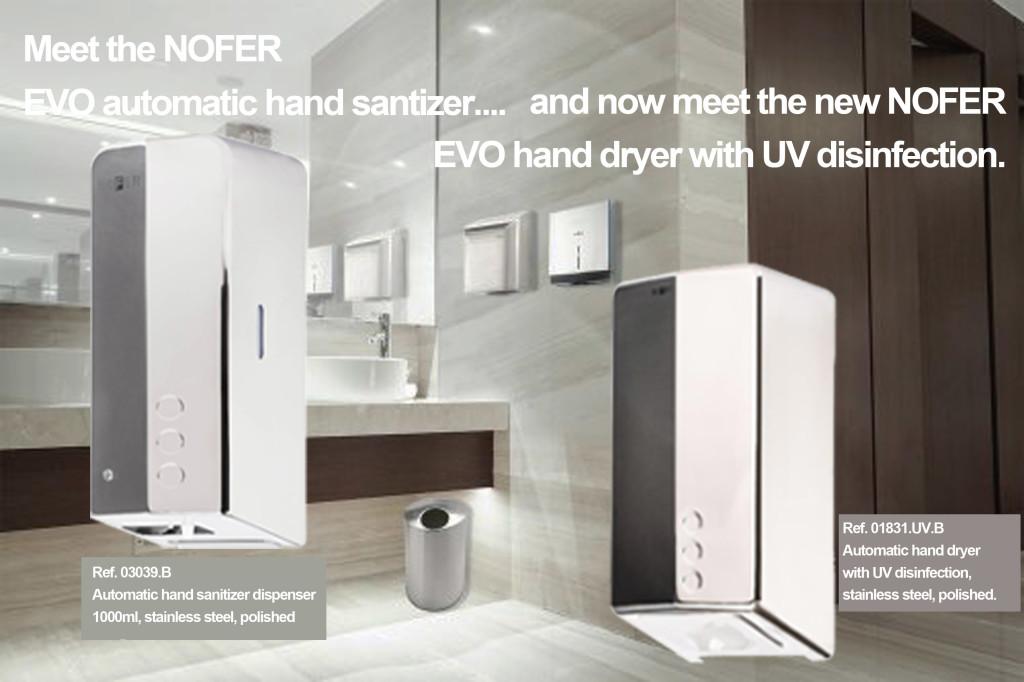 UV disinfection hand dryers